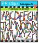 P4 RAINBOW UC and LC Alphabets {P4 Clips Trioriginals Digi