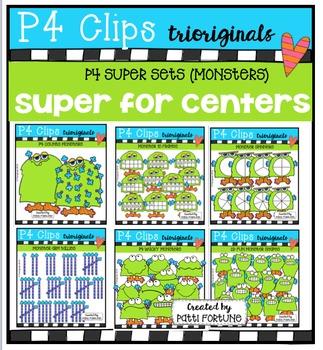 P4 SUPER SET Monsters (P4 Clips Trioriginals Digital Clip Art)