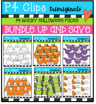 P4 WACKY Halloween BUNDLE (P4 Clips Trioriginals Digital C