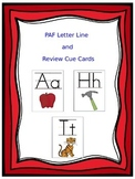 PAF Alphabet Letter Line and Review Cue Cards