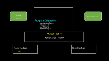 PALs PPT to Accompony Workbook Week One