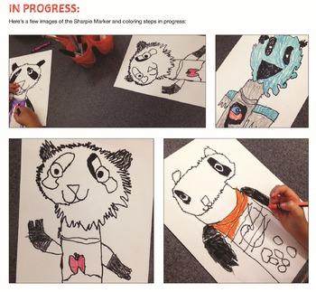 PANDA DRAWING ART with Video Access!