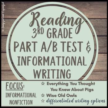 Test Prep PARCC, LEAP, Standardized Nonfiction Assessment/