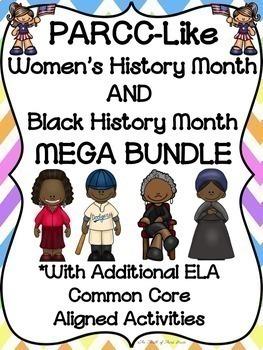PARCC-Like BUNDLE: ELA WOMEN'S HISTORY and BLACK HISTORY