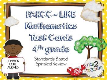 PARCC Like Mathematics Task Cards (4th Grade)