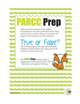 PARCC Prep True or False Equations