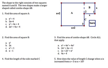 Quadratics Packet - challenging - Common Core