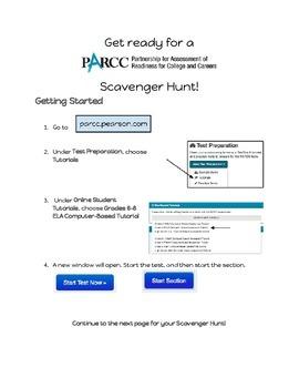 PARCC Scavenger Hunt - Grades 6-8 (Middle School) ELA