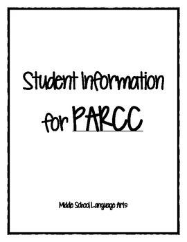 PARCC Student Information Packet