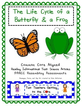 PARCC like Assessment: Butterfly and Frog Life Cycle