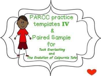 PARCC practice templates IV