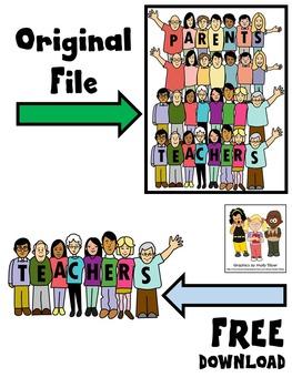 PARENT TEACHER CLIP ART FREEBIE