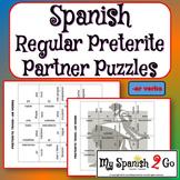 PARTNER PUZZLES--Spanish Preterite Tense -ar verbs