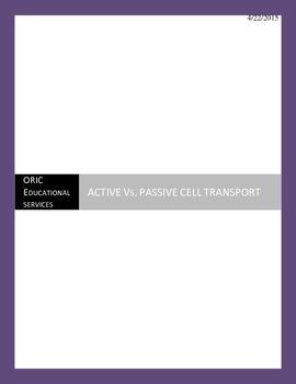 PASSIVE Vs. ACTIVE CELL TRANSPORT NOTE ORGANIZER