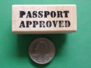 PASSPORT APPROVED Rubber Stamp