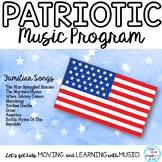 Patriotic Script Familiar Songs and Music Matching Game K-6