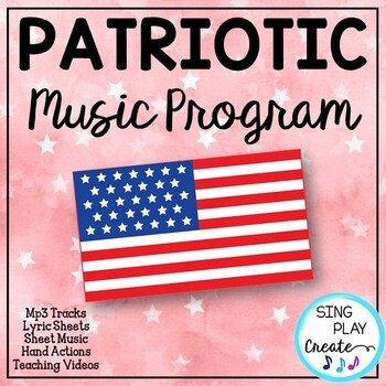 Patriotic Music Program or Readers Theater with Script, So