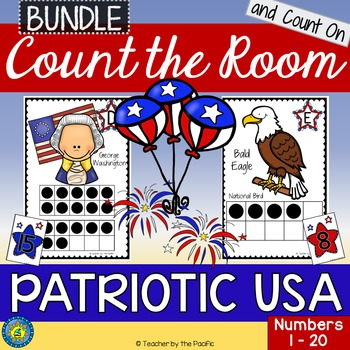 PATRIOTIC USA Math Center: Count the Room and Count On {1-
