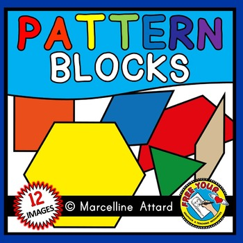 PATTERN BLOCKS CLIPART: MATH CLIPART: GEOMETRY CLIPART