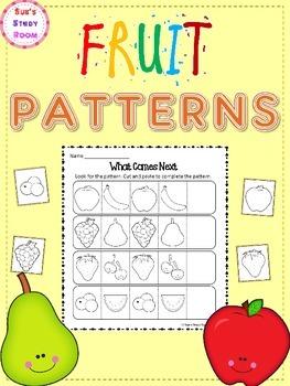 PATTERNS: Fruit Patterns Worksheets
