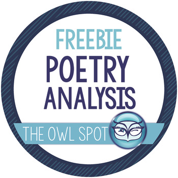 Poetry Analysis Worksheets - CLOSE read with any poem!