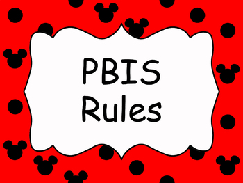 PBIS Classroom Rules