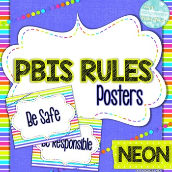 PBIS-Inspired Rules Posters