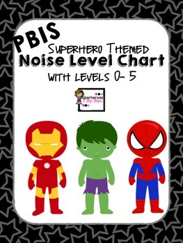 PBIS Noise Level Chart-Superhero Theme