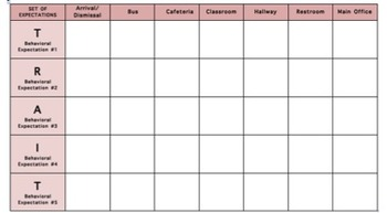 PBIS Poster Matrix Template