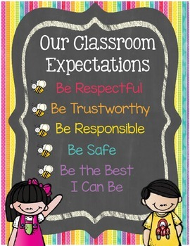 PBIS expectation poster