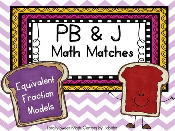 PB&J Math Matches- Equivalent Fraction Models