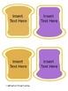 PB&J Sandwich **Editable** Word Cards