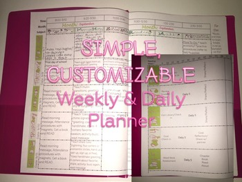 PC- The Interactive Planner (simple, customizable daily an