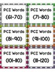 PCI Sight Words Level One Word Wall and Fluency Cards