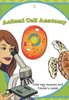 PDF Animal Cell Coloring Worksheet with True or False Stat