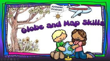 Animated Vocabulary: Globe and Map Skills