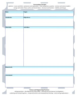 (PDF) NGSS Simple Lesson Template - Gray Polka Dot with Baby Blue
