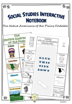 PDF Native American Foldable - People of the Plains 8 Larg