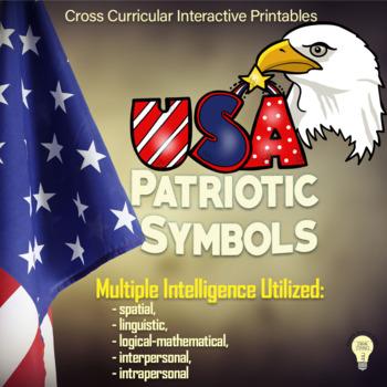 PDF Patriotic Symbols Printables for Interactive Notebooks