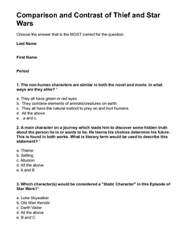 PDF -Thief and the Beanstalk Test Comparing and Contrastin