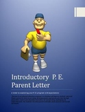 PE - Beginning of the Year Parent Letter