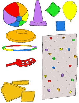PE Clip Art Mega Pack:  Over 200 PNG's for Physical Educat