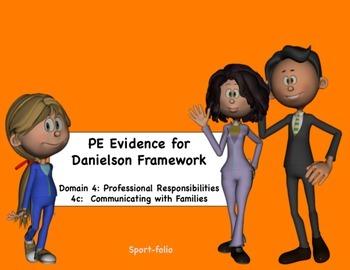 PE Evidence for Danielson's Framework (4c) - Editable