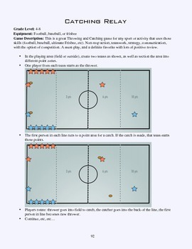 PE Game Sheet: Catching Relay
