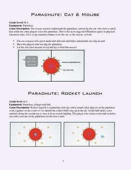 PE Game Sheet: Parachute Games 1