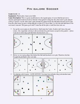 PE Game Sheet: Pin Galore Soccer