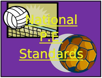 P.E. National Standard Posters!