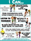 """PE Poster: """"I Can"""" Statements- Standard 4: Personal and So"""