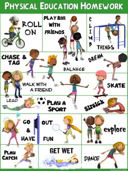 PE Poster: Physical Education Homework