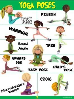 PE Poster: YOGA Poses #2